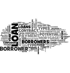 what are the riskiest types of mortgages loans vector image