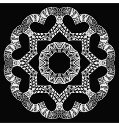 White futuristic round pattern on black vector