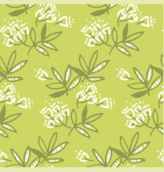 Abstract tropical leaves and flowers seamless vector