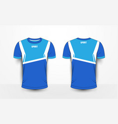 Blue and white sport football kits jersey t-shirt vector