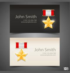 card medal hero vector image
