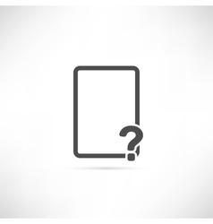 Empty Question Icon vector image vector image