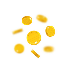 gold coins flying vector image vector image
