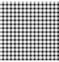 Seamless retro white-black square tablecloth vector image vector image