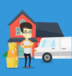 man moving to house vector image