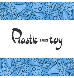 Plastic childrens designer for the game vector