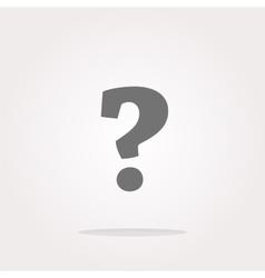 Question mark icon web button Web Icon Art vector image vector image