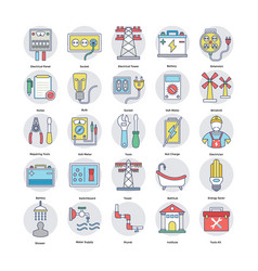set of home services flat icons vector image