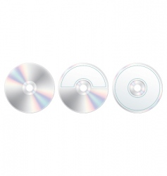 compact disc with label set vector image vector image