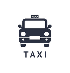 digital black travel taxi vector image vector image