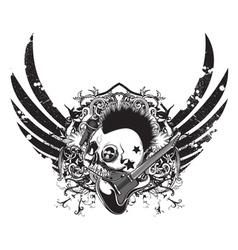 grunge music emblem vector image vector image