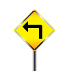 Turn left traffic sign vector image vector image