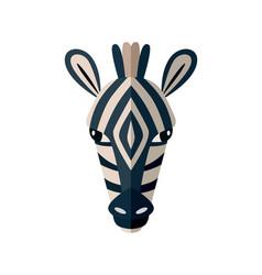 zebra head icon in flat design vector image