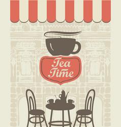 Banner for a sidewalk cafe vector