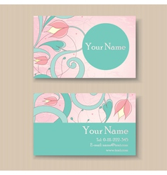 business card pink vector image vector image
