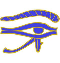 doodle egyptian eye vector image