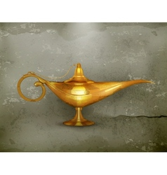 Oil lamp old-style vector image vector image