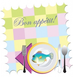 placemat setting vector image