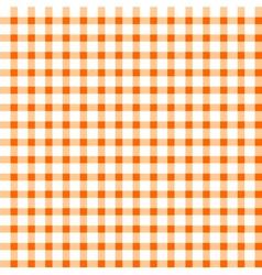 Seamless retro white-orange square tablecloth vector image vector image