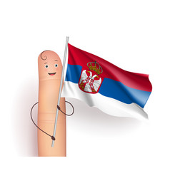 serbia flag waving vector image