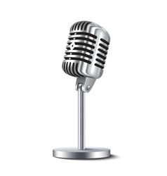 Vintage Microphone Isolated vector image vector image
