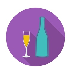Wine flat icon vector image vector image