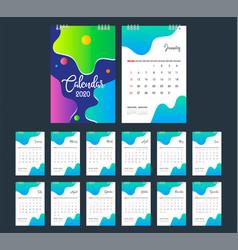 2020 calendar desk calendar modern design vector