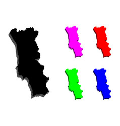 3d map of portugal vector image