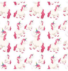 A seamless unicorn background vector
