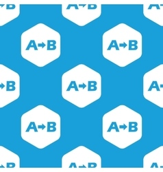 A to B hexagon pattern vector