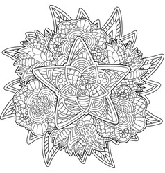 abstract pattern for coloring book with star vector image
