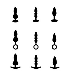 Adult anal sex toys set various anal sex toys vector