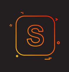 alphabets icon design vector image
