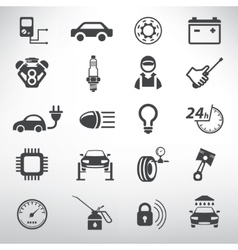 Auto service icons set repair and spare parts vector