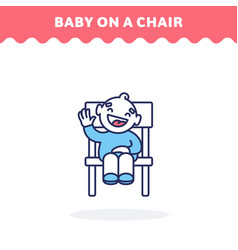 baon chair icon fill and line vector image