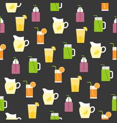 beverage summer theme seamless pattern for vector image