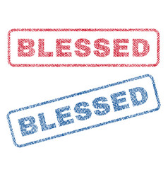 blessed textile stamps vector image