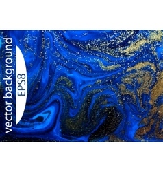 Blue marbling texture Creative background with vector image
