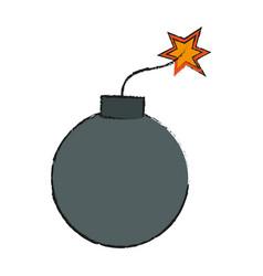 Bomb icon image vector