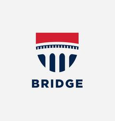 bridge symbol logo design inspiration vector image