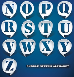 Bubble speech letters vector image
