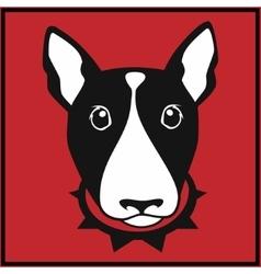 Bull terrier head vector