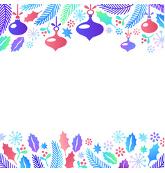 christmas frame flat style cartoon christmas vector image