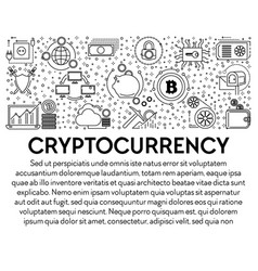 cryptocurrency and bitcoin mining blockchain vector image