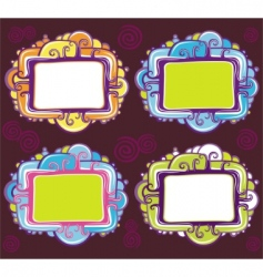 cute design of retro frames vector image