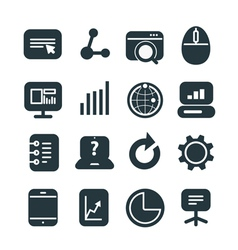 Different SEO icons set vector