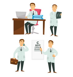 doctor medical worker physician or surgeon vector image