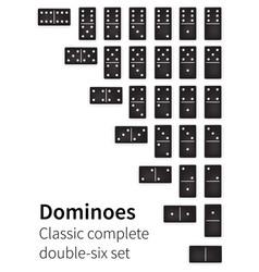 dominoes bones set vector image