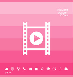 film strip with play vector image