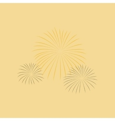 flat on background of firework vector image